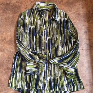 Crinkle Long Ruffled Sleeve Shirt by Milano